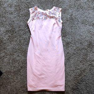 MARINA pink dress w/sequin detail